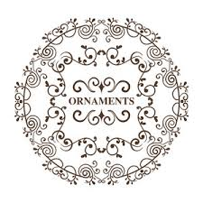 beautiful decorative frame design with floral ornaments