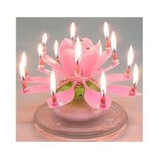 lotus birthday candle birthday candle amazing happy rotating lotus flower pink