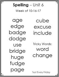 morton elementary teachers kelley nagy spelling words