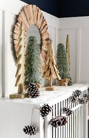 holiday mantel fantel with trees it all started with paint