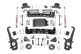 lifted nissan armada 2017 6in suspension lift kit for 2017 4wd nissan titan pickups rough
