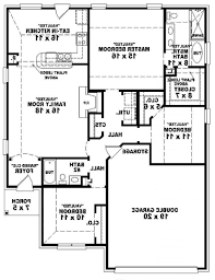 1 Bedroom House Plans by Home Design 1 Story 3 Bedroom Bath House Plans Decorating Ideas