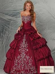 wedding dress maroon gown sweetheart embroidery maroon tiered taffeta floor length