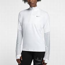 nike 856608 100 women u0027s long sleeve running top nike element flash