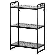 Metal Shelving Unit Mulig Shelf Unit Black Ikea