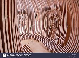 modern wood sculpture kuwait stock photo royalty free image