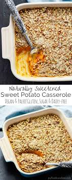 healthy sweet potato casserole paleo vegan sugar free
