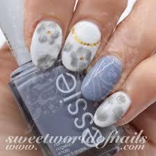 nail art gray watercolor nail water decals slides