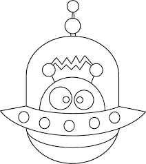 cute alien free coloring pages on art coloring pages