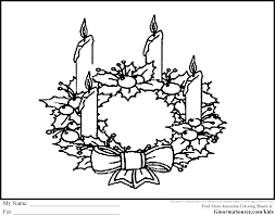 advent wreath coloring pages printable inspirational 5217