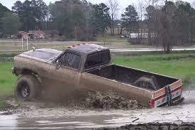 dodge mud truck video 1st gen cummins goes one mud hole too far