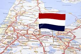 netherlands map flag map of the netherlands with the flag pointed at the capital