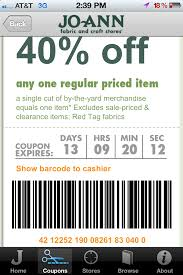 more mobile savings at jo fabrics app mobile text coupons