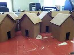 imrc u2013 laser cut folded cardboard houses