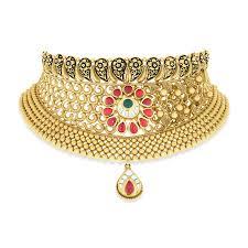 jewellery choker necklace images Mahuya mudhra gold choker necklace online jewellery shopping india jpg