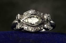 antique engagement rings for vintage brides 1930s art deco single