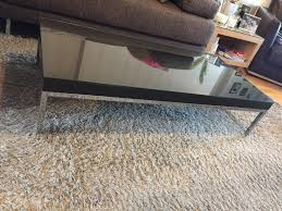 ikea coffee table with metal feet and custom made glass top for