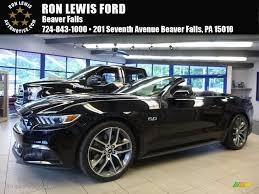 Black Mustang 2017 Shadow Black Ford Mustang Gt Premium Convertible 114176190