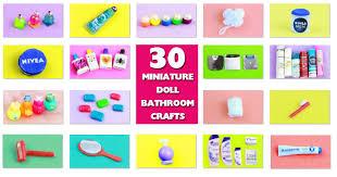 diy doll bathroom miniature stuff simplekidscrafts youtube