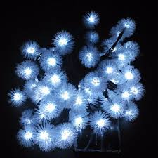 cheap novelty solar snow flakes led lamps snowball string lights