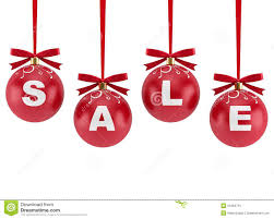 decorations for sale christmas decorations with the word sale stock illustration