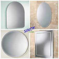 sinoy decorative frameless bathroom mirror with polished c edge