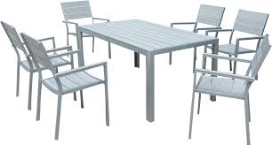 Patio Table 6 Chairs Polywood Rectangle 6 Seater Dining Set Buydirect4u