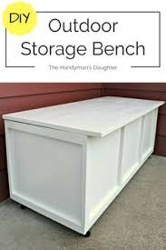 Build Outdoor Storage Bench Seat by Easy Way To Store Outside Stuff Pressure Treated Lumber