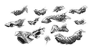 spaceship sketches spaceship sketches and low poly