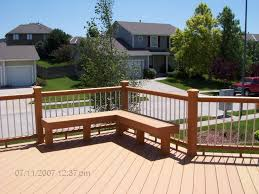 Wood Bench Designs Decks by Exterior Design Interesting Trex Decking With Cozy Wood Bench And