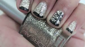 easy winter nail art youtube