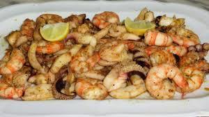 recette de fruits de mer sautés غلال البحر بالثوم