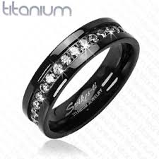titanium diamonds rings images Black titanium wedding rings with diamonds san francisco the jpg