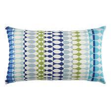 Designer Throw Pillows For Sofa by Elaine Smith Lumbar Pillow Modern Oval Ocean