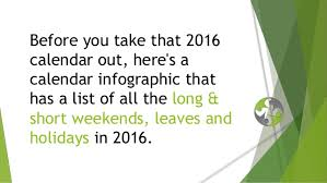 2016 india holidays calendar hr infographic best weekend tri