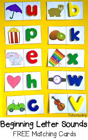 beginning letter sounds free matching cards great literacy