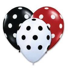 polka dot balloons black and white polka dots assorted colors 12 inch