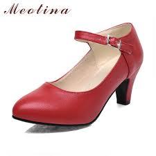 meotina shoes women high heels ladies pumps big size 34 42 spring