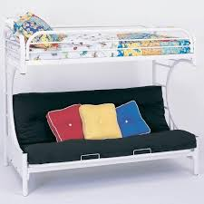 White Futon Bunk Bed C Style Futon Bunk Bed