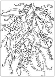 vintage flower coloring pages behance colouring