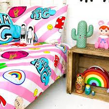 gang bubblegum pink children u0027s bed linen by love frankie
