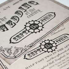 steunk wedding invitations victoriana steunk wedding invitation by graphicembers on