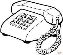 telephone device coloring free printable coloring pages phone