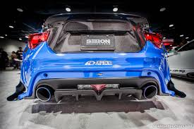 subaru brz body kit 2013 custom subaru brz by seibon carbon with varis body kit