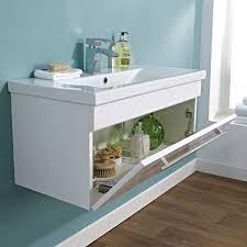 Eden Bathroom Furniture by Premier Eden Vanity Unit Vtww1000 994mm Wall Mounted White