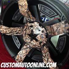 Pink Camo Ford Truck - custom automotive wheels xd rockstar ii rs 2 811 black