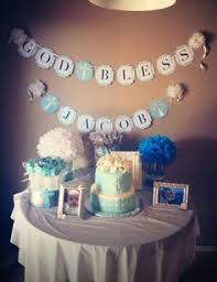 Centerpieces For Baptism For A Boy by Complementary Floor And Table Balloon Decorations All Ready For