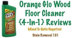 orange glo wood floor cleaner reviews mixed to negative