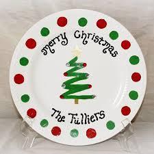 christmas plate christmas tree zig zag plate