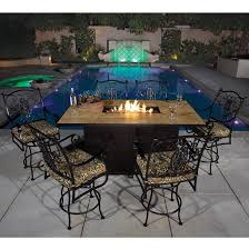 Bar Height Fire Table Hi Top Outdoor Furniture Bar Patio Furniture And Counter